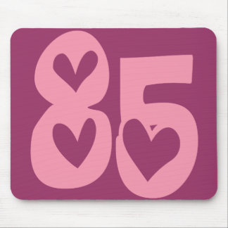 DECORATIVE PINK NUMBER 85 MOUSE PAD