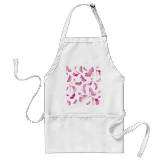 Decorative pink shoe template adult apron