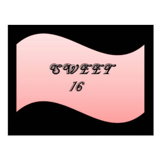 Decorative Pink Sweet 16 Postcard