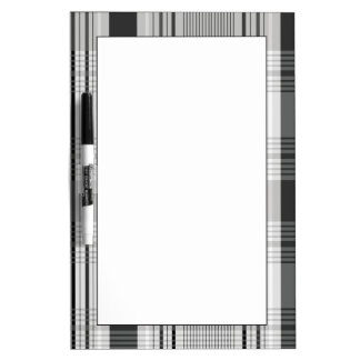 Decorative plaid pattern dry erase board