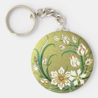 Decorative plants and flowers - Love Green Basic Round Button Keychain
