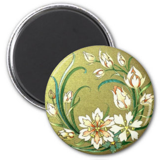 Decorative Plants & Flowers 2 Inch Round Magnet