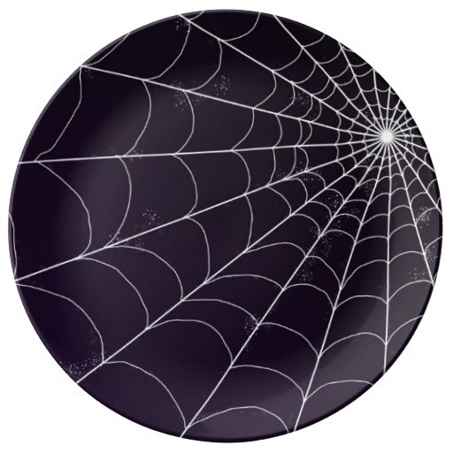 Decorative Plate - Spiderweb on Violet