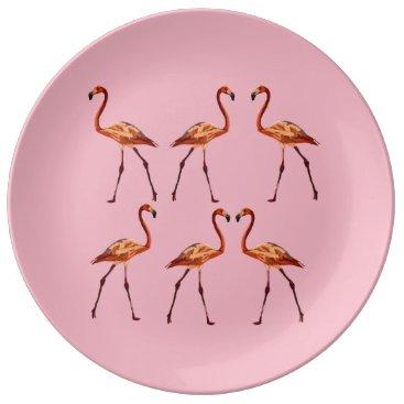 Beach Themed Decorative Porcelain Plate Flamingo
