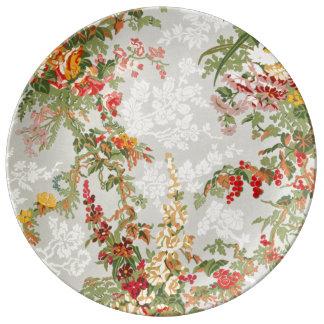 Decorative porcelain Plate floral Vintage