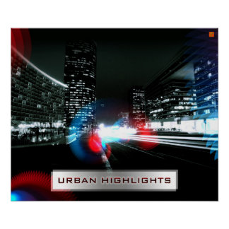 Decorative poster Urban Highlights