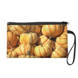 Decorative Pumpkins Wristlet Purse