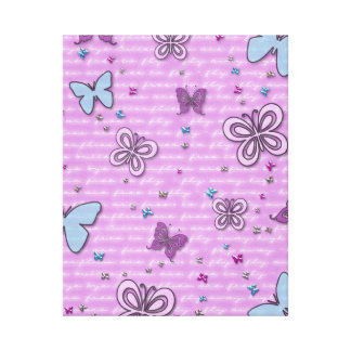 Decorative Purple and Blue Butterfly Canvas Print