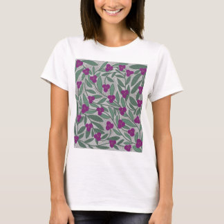 Decorative purple floral pattern T-Shirt