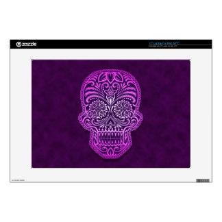 Decorative Purple Sugar Skull Laptop Decal