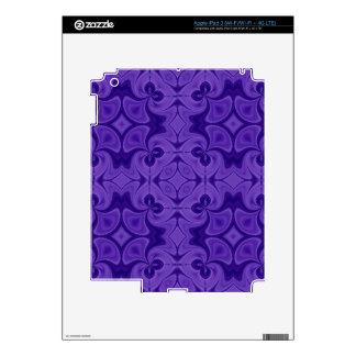 Decorative Purple wood pattern iPad 3 Skins
