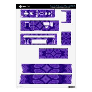 Decorative Purple wood pattern Skin For Nintendo Wii