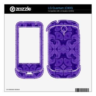 Decorative Purple wood pattern LG Quantum Decal