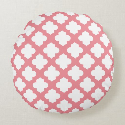 Decorative Quatrefoil Pillows Round Pillow Zazzle