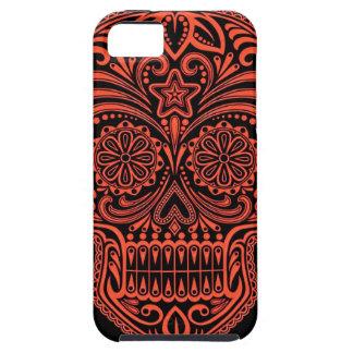 Decorative Red and Black Sugar Skull iPhone SE/5/5s Case