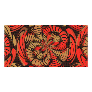 Decorative red and brown card