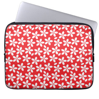 Decorative Red and White floral Computer Sleeve