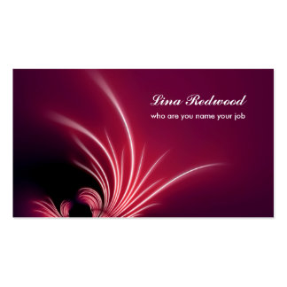 decorative red business card