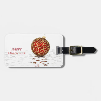 Decorative Red Christmas Balls Bag Tags