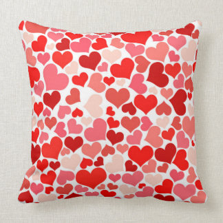 Decorative Red Heart Throw Pillow