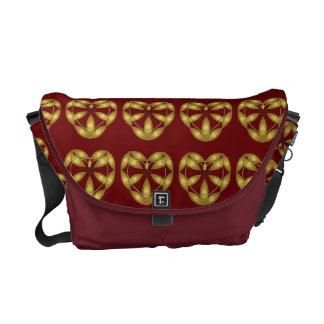 Decorative Red Hearts Messenger Bag