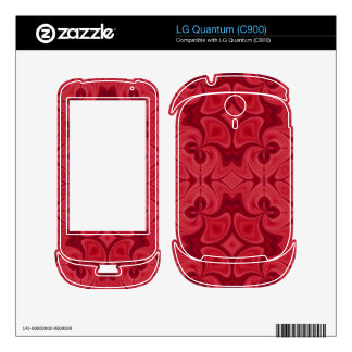Decorative Red wood pattern Decal For The LG Quantum