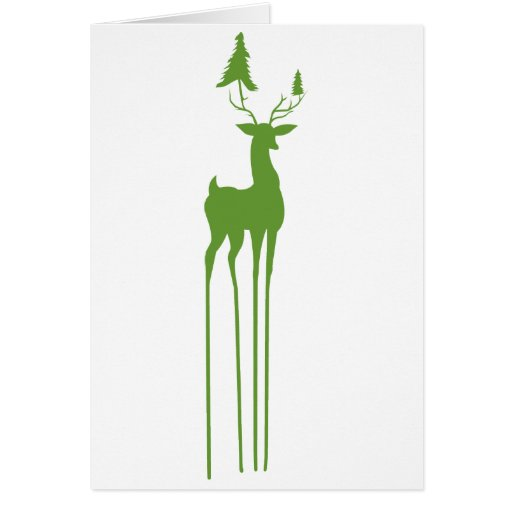 Decorative Reindeer Christmas Holiday Card