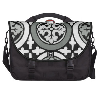 Decorative Renaissance Rosette Tile Design Bags For Laptop