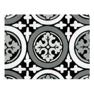 Decorative Renaissance Rosette Tile Design Postcard