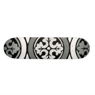 Decorative Renaissance Rosette Tile Design Skateboard