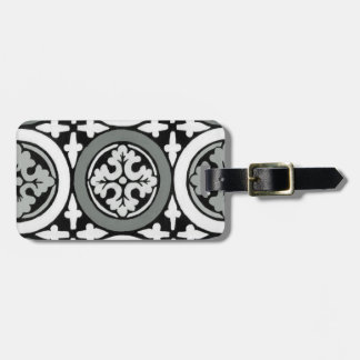 Decorative Renaissance Rosette Tile Design Tag For Luggage