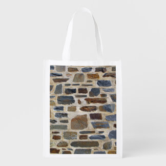 Decorative Rock Wall Grocery Bag