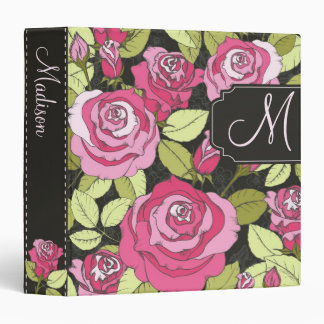 Decorative Rose Binder with Custom Text
