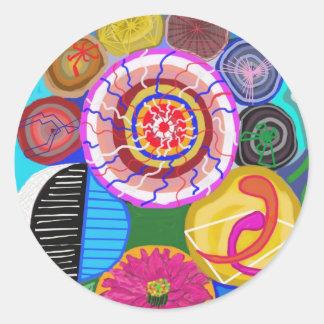 DECORATIVE Round Stickers : ALL OCCASSIONS