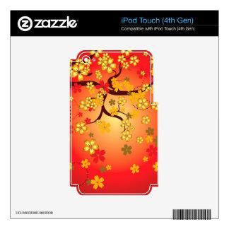 Decorative Sakura Background 2 iPod Touch 4G Decal