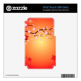 Decorative Sakura Background 3 iPod Touch 4G Decals