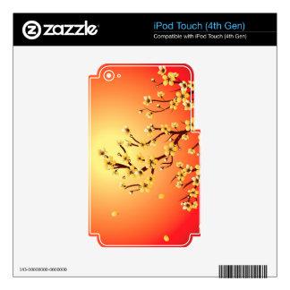 Decorative Sakura Background iPod Touch 4G Decals