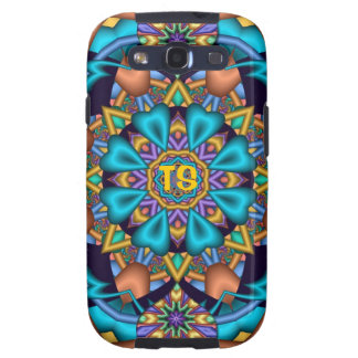 Decorative Samsung galaxy case with Monogram Galaxy S3 Cover