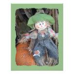 Decorative Scarecrow Child Birthday Party Invites
