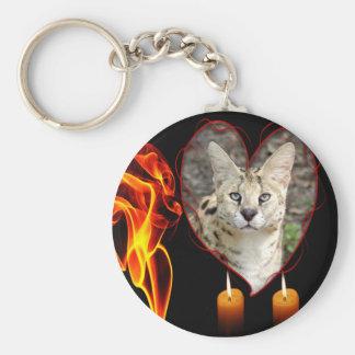 Decorative Serval Cat Key Chain