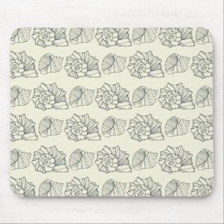 Decorative Shells Pattern Mouse Pad
