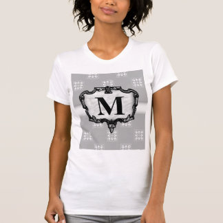 Decorative Silver Monogram T-Shirt