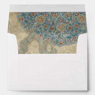 Decorative Silver Tapestry Floral Arrangement Envelope