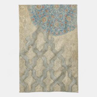 Decorative Silver Tapestry Floral Arrangement Kitchen Towels