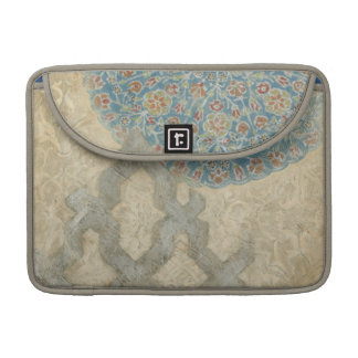 Decorative Silver Tapestry Floral Arrangement Sleeves For MacBook Pro