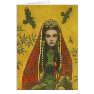 Decorative Sorceress Witch Greetings Card