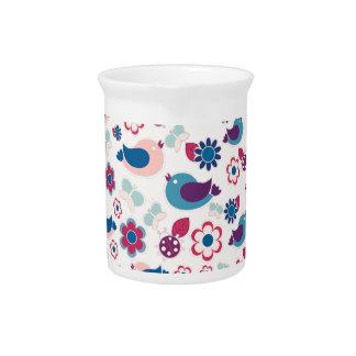 Decorative spring pattern drink pitcher