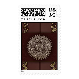 Decorative stamp with Indian decoration
