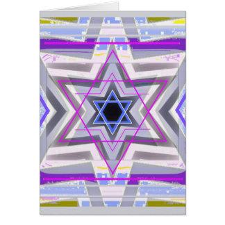 Decorative Star of David Greeting Cards