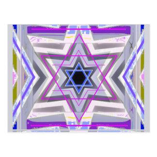 Decorative Star of David Post Card